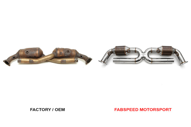 Sport Catalytic Converter X-Pipe-Fabspeed-4-Horsemen-Racing