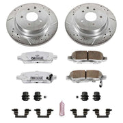 Power Stop 08-12 Infiniti EX35 Rear Z26 Street Warrior Brake Kit