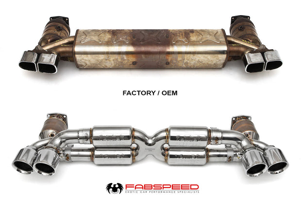 Supersport X-Pipe Exhaust System-Fabspeed-4-Horsemen-Racing