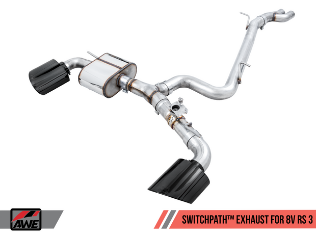 AWE SwitchPath™ Exhaust for Audi 8V RS 3 - Diamond Black RS-style Tips-Awe Tuning-4-Horsemen-Racing