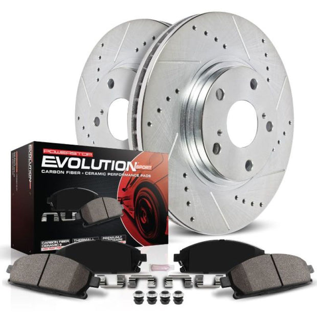Power Stop 04-05 Buick Century Rear Z23 Evolution Sport Brake Kit