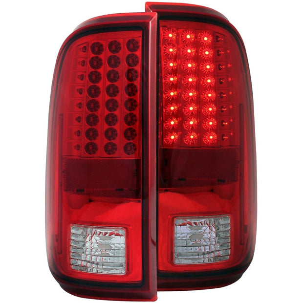 ANZO 2008-2015 Ford F-250 LED Taillights Red/Clear