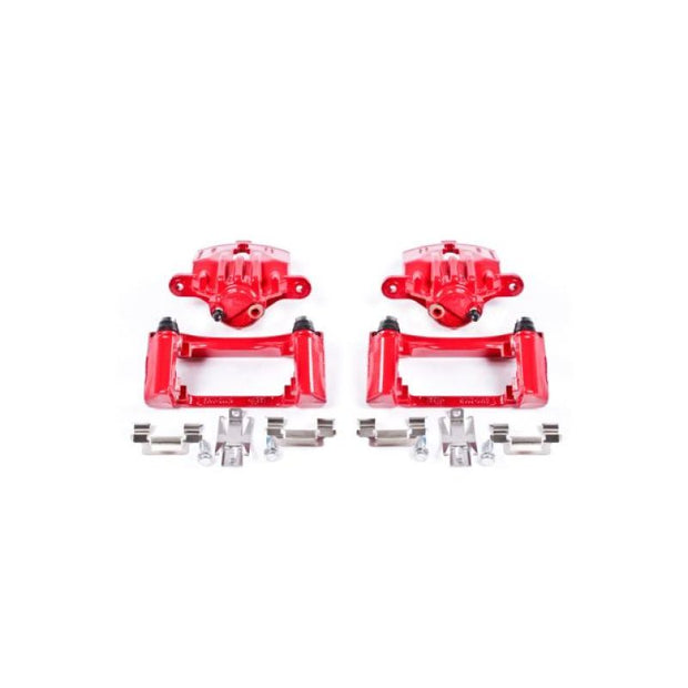 Power Stop 98-02 Chevrolet Camaro Rear Red Calipers w/Brackets - Pair