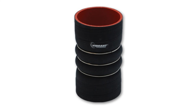 Vibrant 4 Ply Aramid Reinf Silicone Hump Hose conn 4in ID x 6in long 3 reinforcement ring MATTE BLK