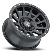 ICON Compression 17x8.5 6x135 6mm Offset 5in BS 87.1mm Bore Satin Black Wheel
