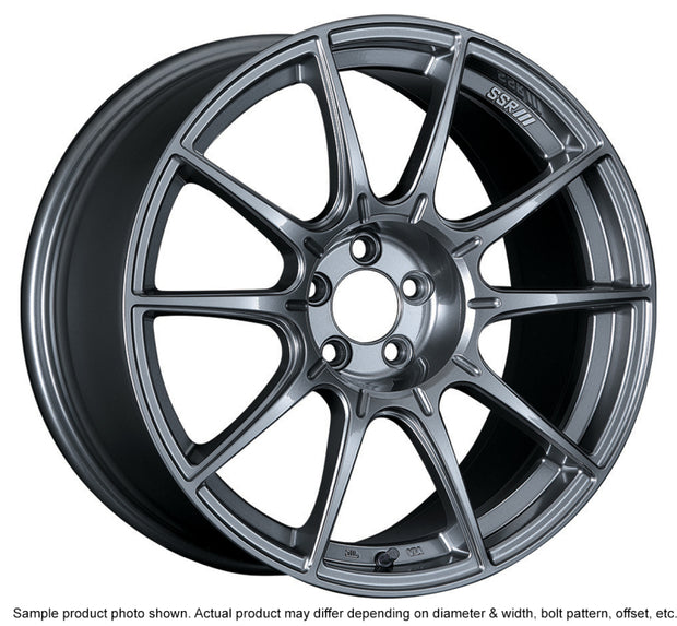 SSR GTX01 18x8.5 5x114.3 44mm Offset Dark Silver Wheel