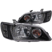 ANZO 2002-2003 Mitsubishi Lancer Crystal Headlights Black