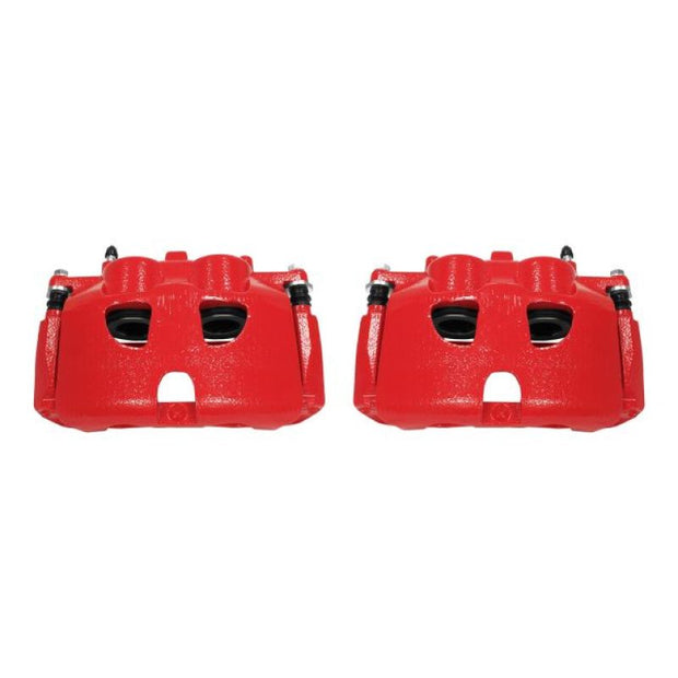 Power Stop 10-17 Ford Expedition Front Red Calipers w/Brackets - Pair