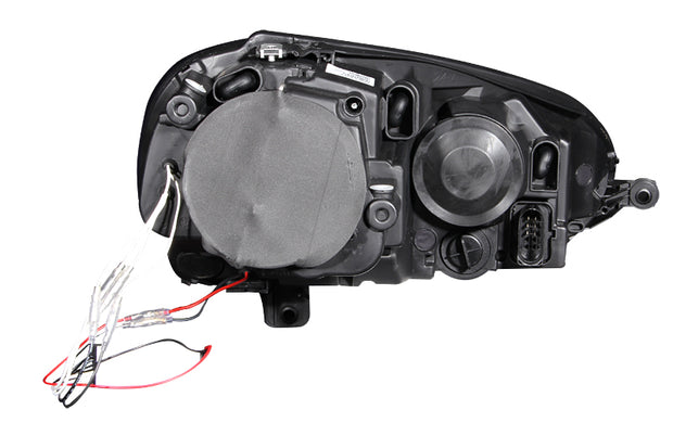 ANZO 2006-2009 Volkswagen Rabbit Projector Headlights w/ Halo Black (CCFL)