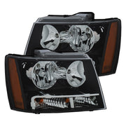 ANZO 2007-2014 Chevrolet Tahoe/Suburban Crystal Headlights Black