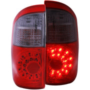 ANZO 2004-2006 Toyota Tundra LED Taillights Red/Smoke
