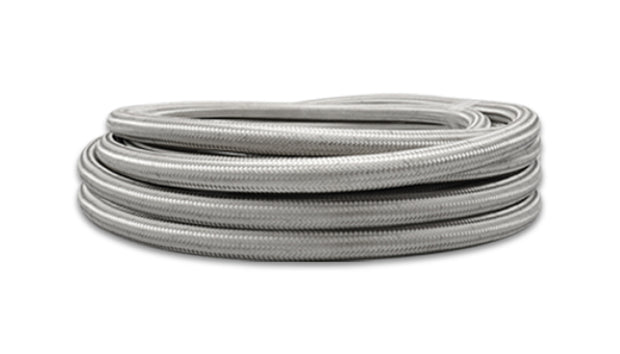 Vibrant -10 AN SS Braided Flex Hose (10 foot roll)