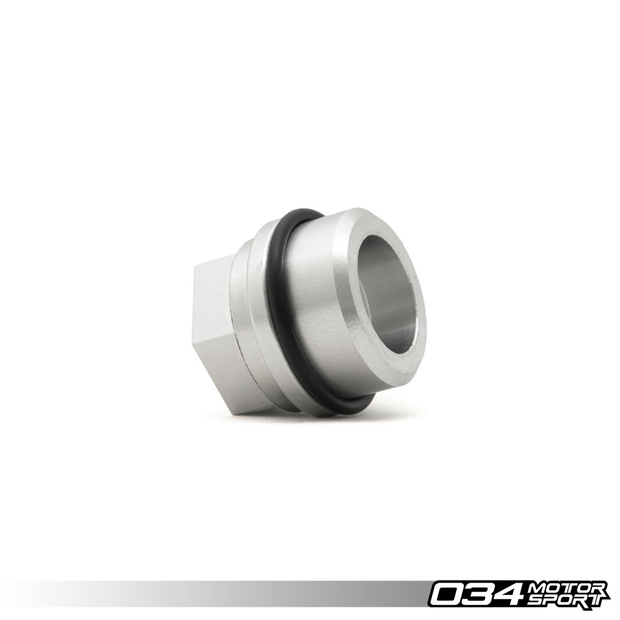 "BLOCK BREATHER ADAPTER, AUDI/VOLKSWAGEN 1.8T, BILLET ALUMINUM, THREADED 3/4"" NPT-034 Motorsport-4-Horsemen-Racing"