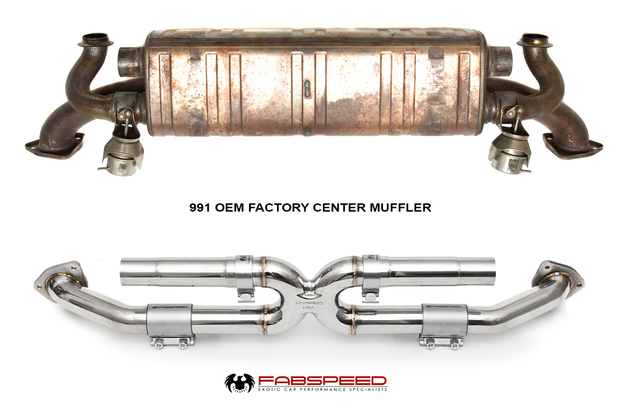 Center Muffler Bypass X-Pipe-Fabspeed-4-Horsemen-Racing