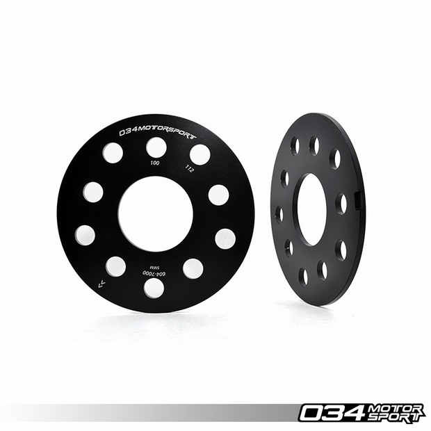 WHEEL SPACER PAIR, 5MM, AUDI/VOLKSWAGEN 5X112MM & 5X100MM WITH 57.1MM CENTER BORE-034 Motorsport-4-Horsemen-Racing