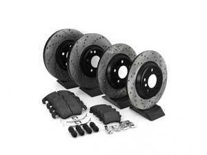Street Performance Axle Pack Service Kit - Drilled & Slotted - Front & Rear-StopTech-4-Horsemen-Racing