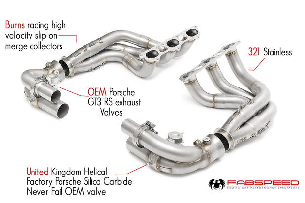 Long Tube Competition Race Header System-Fabspeed-4-Horsemen-Racing