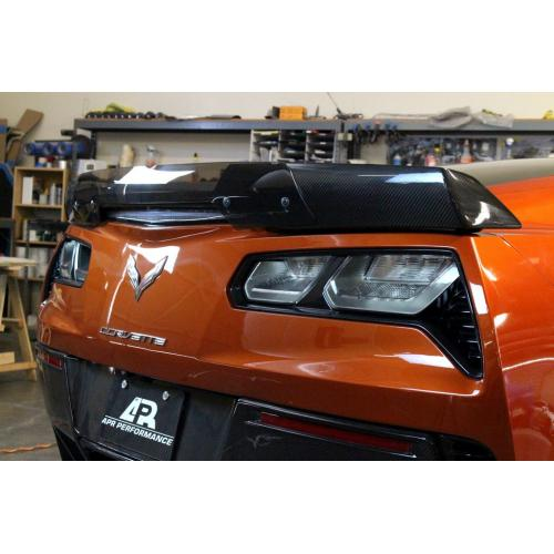Chevrolet Corvette C7 Z06 Rear Deck Track Pack Spoiler with APR Wickerbill 2015-Up-APR Performance-4-Horsemen-Racing