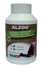 Alzoo Natural Repellent Cleansing Powder for Cats