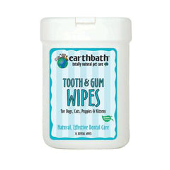 Earthbath Tooth & Gum Wipes 25ct