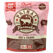 Primal Raw Frozen Beef and Salmon