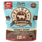 Primal Raw Frozen Chicken & Salmon Feline Formula