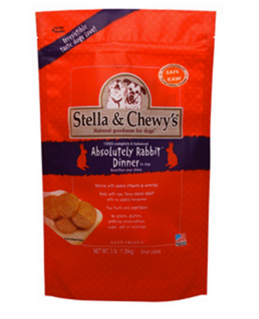 Stella & Chewy's Raw Frozen Absolutely Rabbit Dinner