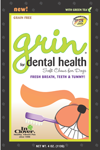 In Clover 4oz Grin Daily Treats Fresh Breath, Teeth & Tummy!