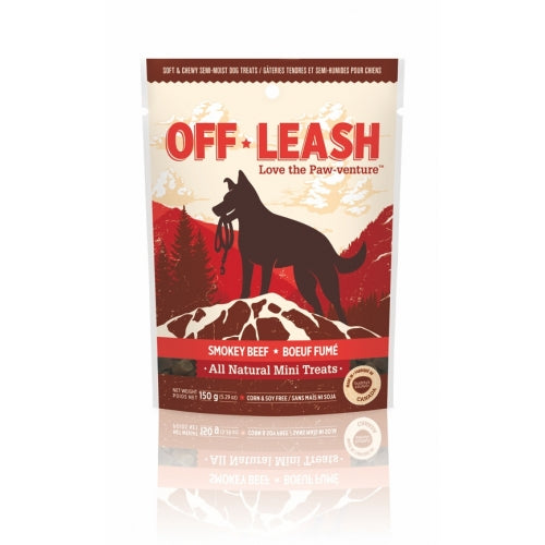 Off Leash Smokey Beef 150g