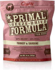 Primal Freeze-Dried Turkey & Sardine
