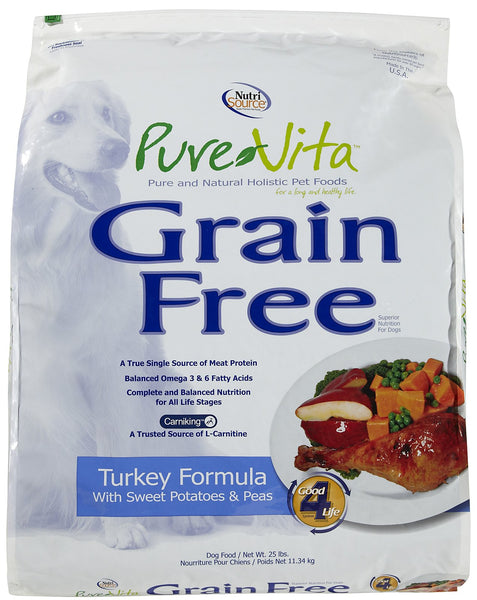 Pure Vita Grain Free Turkey, Sweet Potato & Peas