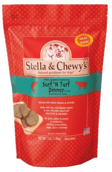 Stella & Chewy's Raw Frozen Surf & Turf Dinner