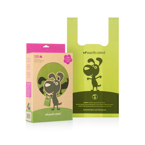 Earth Rated Waste Pick up Bags - 120 ct Handle Bags