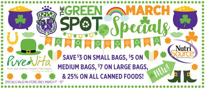May 2018 Special: Save $5 on small bags and $10 on large bags of Petcurean!