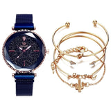 5pc/set Luxury Brand Women Watches Starry Sky Magnet Watch Buckle Fashion Casual Female Wristwatch Roman Numeral Simple Bracelet Fashion ens  13.00 Fashion ens
