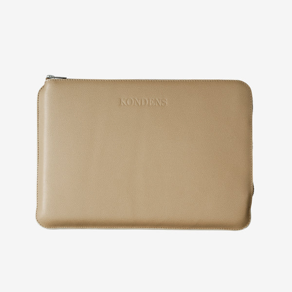 Leather laptop case - Billie Black Nappa
