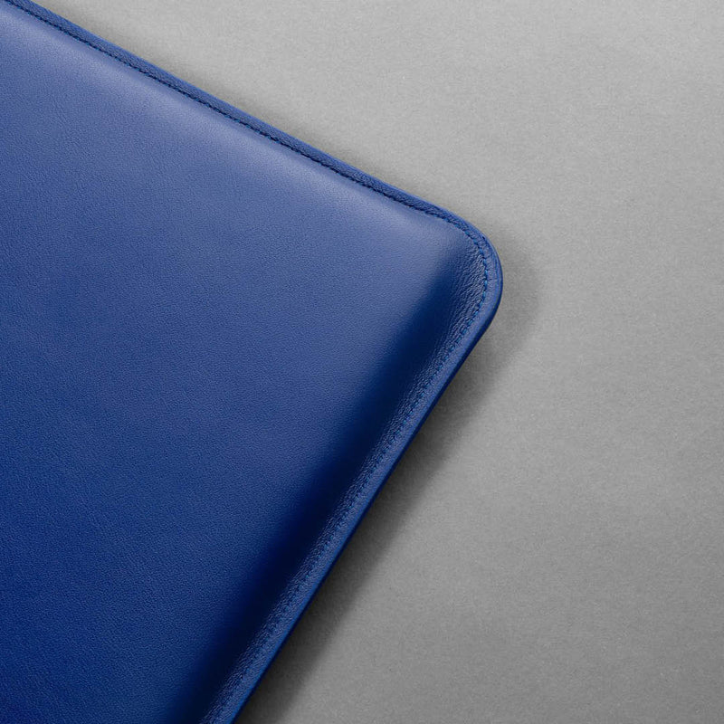 Leather laptop case - Alex Blue Nappa
