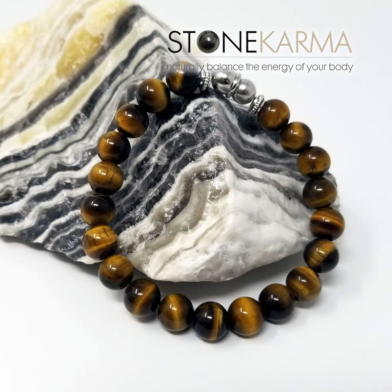 mens tiger eye magnetic bracelet