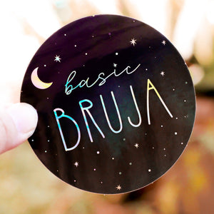 Basic Bruja Holographic Sticker - quieroprints