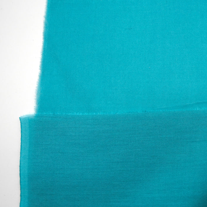 Silk Cotton Voile Fabric Dusty Turquoise