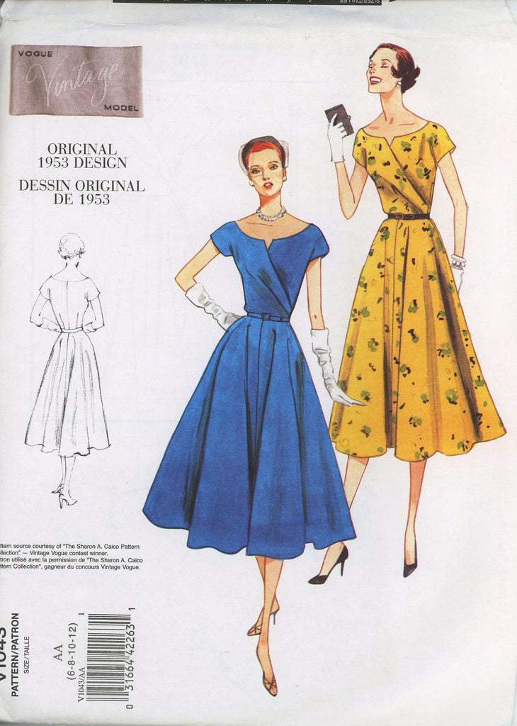 Vogue Original Design 1043 Dress Sewing Pattern
