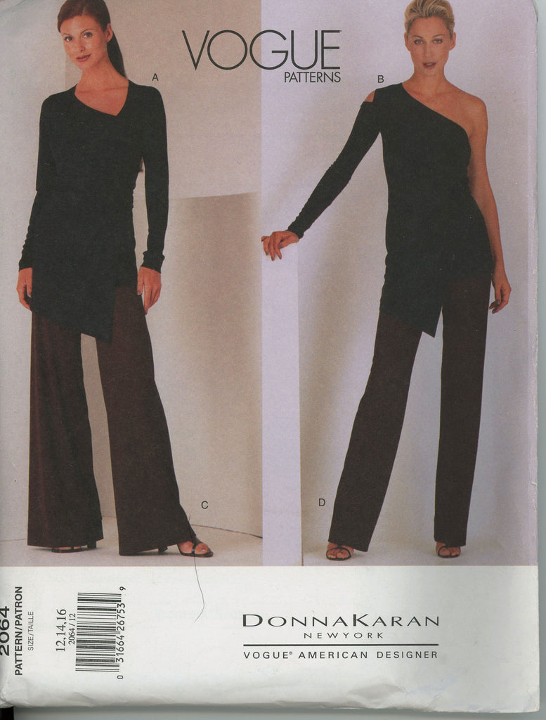Donna Karan 2064 Vogue Sewing Pattern
