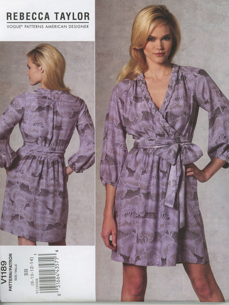 Rebecca Taylor 1189 Vogue Sewing Pattern