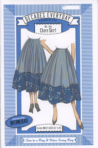 Chore Skirt Decades of Style Sewing Pattern