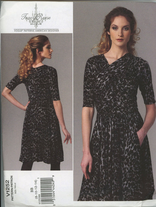 Tracy Reese Dress 1252 Vogue Sewing Pattern