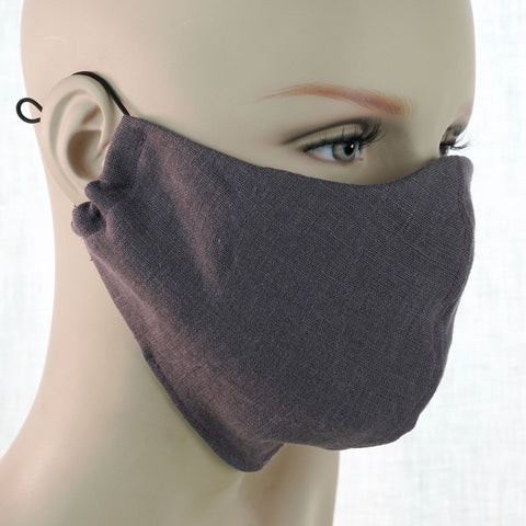 Linen Face Mask  Large 3 Colors Unisex