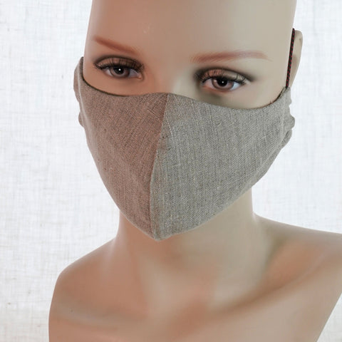 Linen Face Mask Medium 3 Colors Unisex
