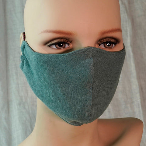 Linen Face Mask Small 3 Colors Unisex