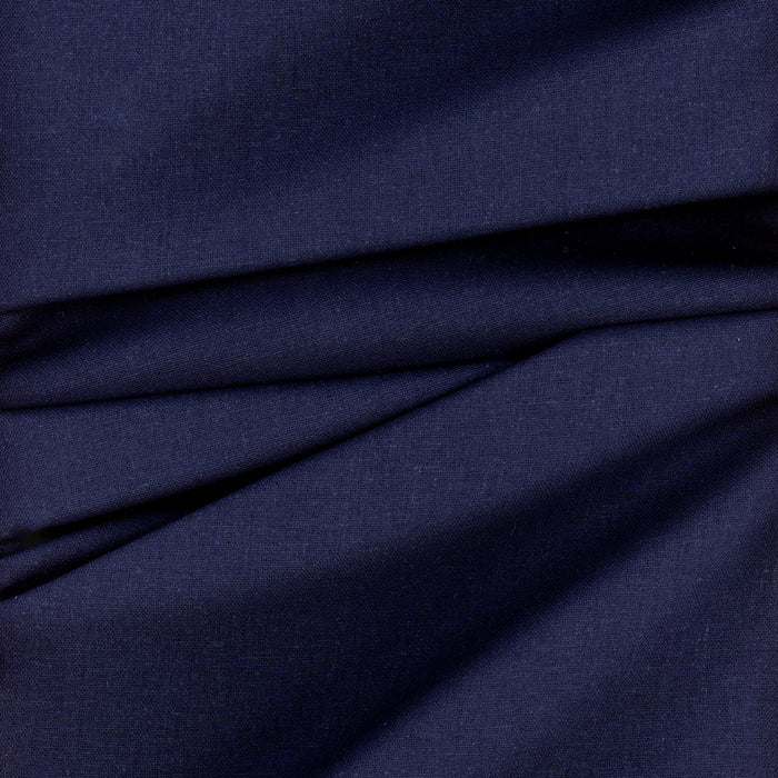 Brussels Washer Linen Rayon Fabric Indigo