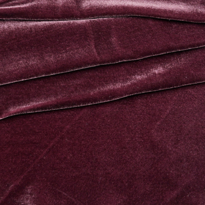 Beautiful Silk Velvet Fabric Plum